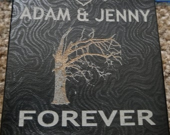 Personalized Laser Engraved  Jewelry Box