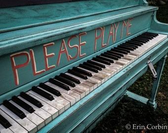 Piano Print, Portland, Maine, Photography, Music, Prints
