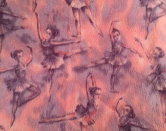 Novelty Ballet Polar Fleece Blanket-Dance/Tutu/PomPoms/Pink/Purple/Girls