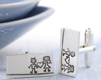 Groom cufflinks | Wedding cufflinks | Anniversary cufflinks | Boyfriend gift | Handmade silver cufflinks | Valentines gift for him | Stamped