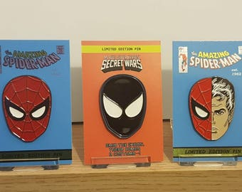 The Amazing Spider-Man limited edition pin set.