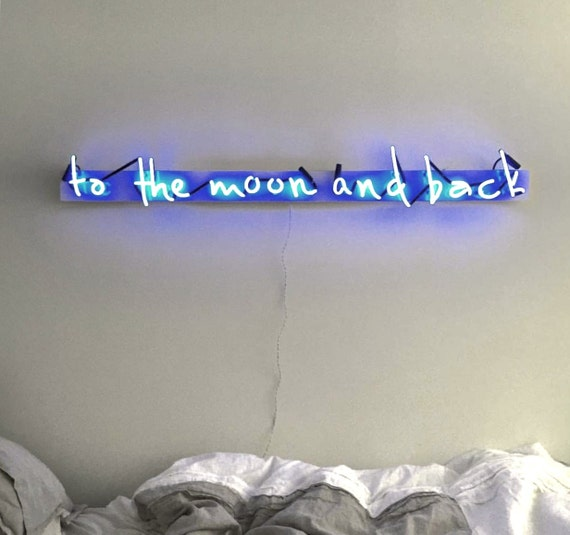 To The Moon And Back Plexiglass-Mounted Neon Sign