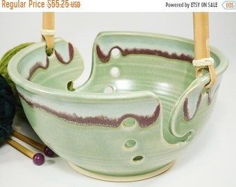 ON SALE Crocheting Bowl - 15% Off -Large Deluxe Crochet Yarn Bowl -Knitting Yarn Bowl - Pottery Knitting - Ceramic Knitting - Yarn Holder -