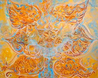 Svãdhishthãna - Sacral Chakra Painting - Energised Unique Artprint