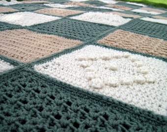 custom-made afghan-63 unique squares make it extra special