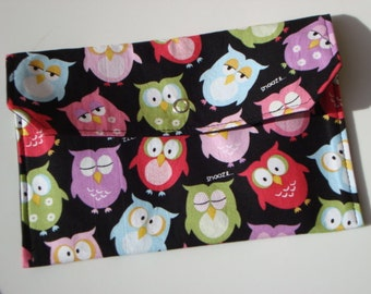 Coupon / Cash Budget Clutch Organizer - SNOOZE OWL