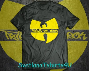 Wu Tang protect ya neck black shirt, wu wear, Rza, Ol Dirty Bastard shirt