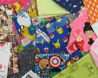 Novelty Fabric Scraps-1 pound of Scraps
