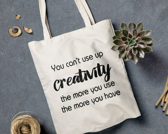 Creativity quote Tote - Canvas Tote Bag - Maya Angelou Quote - Market Tote - Canvas Tote - Cotton Tote Bag - Craft Bag - Tote Bag
