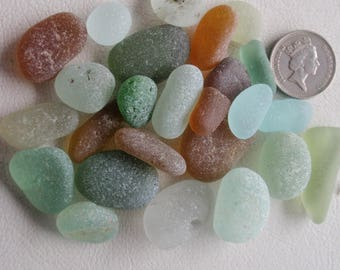 English sea glass highly perfect chunky lumps all colors all shapes JQ