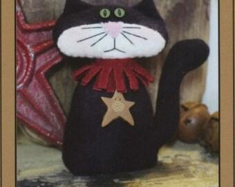 Black Cat Softie or Pincushion - Wool or Wool Felt