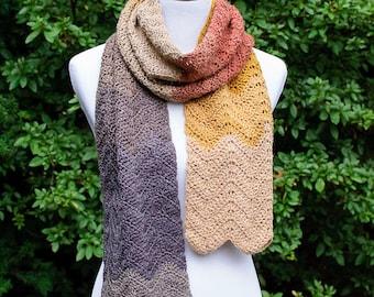 Autumn Ripple Scarf Crochet Pattern
