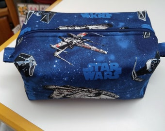 STAR WARS Boxed Zipper Pouch, Travel Case, His or Hers Travel Case, Toiletry Case, Makeup Travel Case, Toiletry Storage, Gift for Him or Her