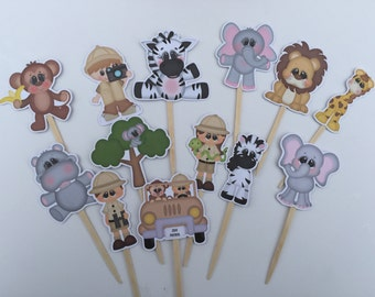 Zoo Cupcake Toppers/Safari Toppers/Zoo Toppers/First Birthday/Boy Party/Girl Party