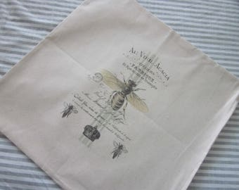 QUEEN Bee French BEE Abeille Decorative Pillow COVER 100% Cotton
