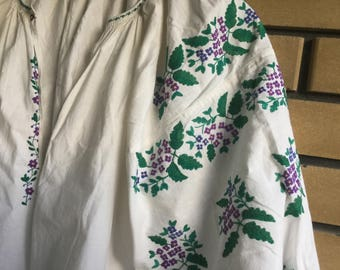 Vintage Embroidered Dress Ukrainian Vyshyvanka Handmade Embroidery.