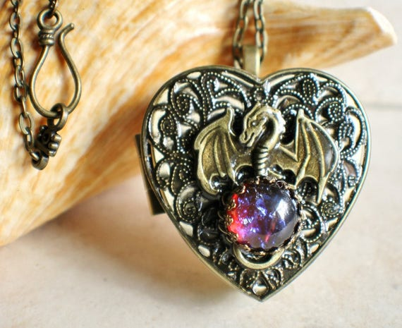 Dragon music box locket heart music box pendant music box aloadofball