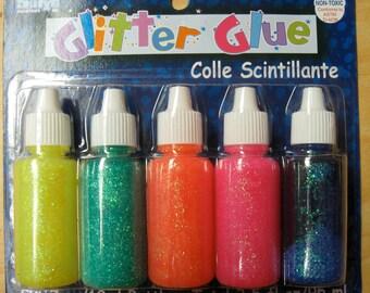 Glitter Glue neon colors-2 sets