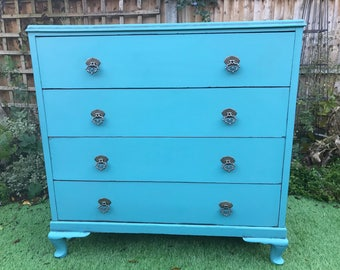 A Fabulous Vintage Hand Painted Chest of Drawers