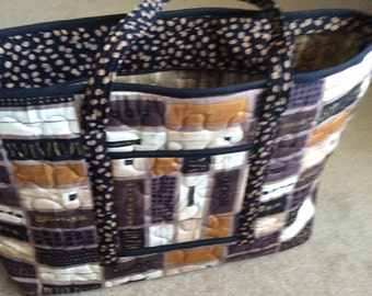 Large tote overnight bag