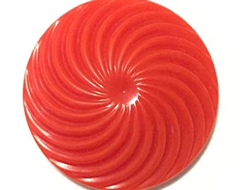 Large Colt Firearms Collectible Button Pattern 9, Pinwheel Design, Bright Red Colt Button 9, item 273