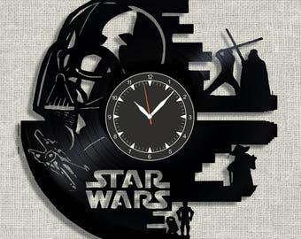 Star Wars vinyl record clock, wall clock Star Wars, Best Gift for Decor