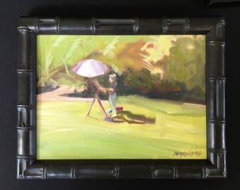 Plein air painting of plein air painting Maui Hawaii Upcountry original oil painting 9x12