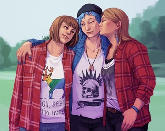 Life Is Strange Fanart Print - Hella Best Friends Forever