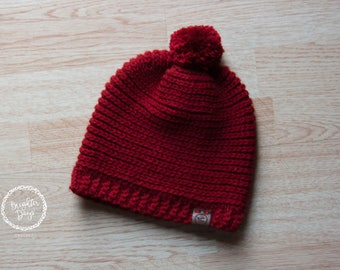 Simple & Perfect Pom Slouch Beanie - 26 Colors!