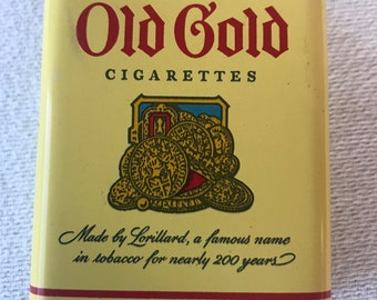 Old Gold Cigarettes Tin with Bottom Striker