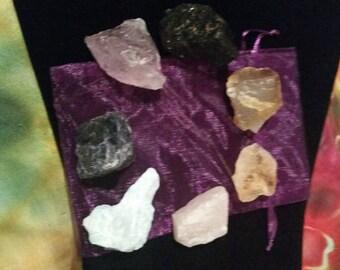 Chakra Set - Reiki Healing - Rough Stones
