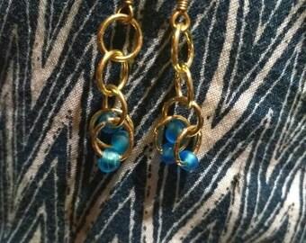 Gold Cinderella earings