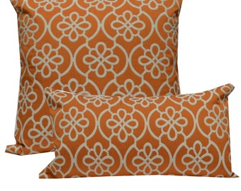 Decorative Pillow Cover Medallion Orange