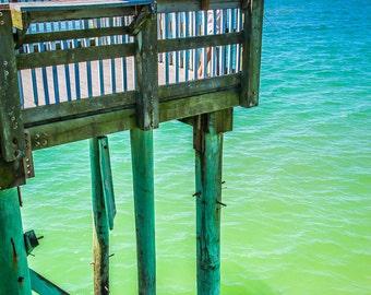 Panama City Beach Fishing on Pier Fine Art Print - Travel, Scenic, Landscape, Nature, Home Decor, Zen