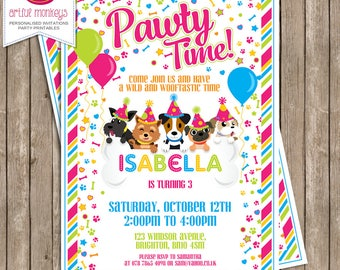 Printable Puppy Party Invitation | Personalized