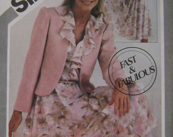 VINTAGE Simplicity Pattern 5364 Misses' Fast & Fabulous Pullover Dress and Unlined Jacket
