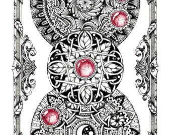 """Mandala art print """"Winters"""""""