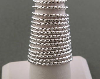 Sterling Silver Twist Wire Stacking Ring