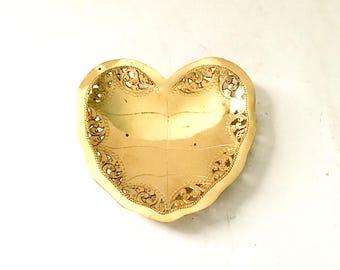 Brass Heart coin dish / trinket dish / coin dish / Brass heart catch all dish