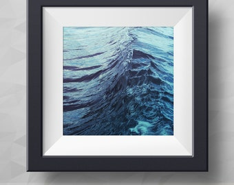 Emerge. From BCH.DESIGN Faces of a Wave Collection. Fine art photography, sea wave,  sea photography, nature photography, blue, navy colours