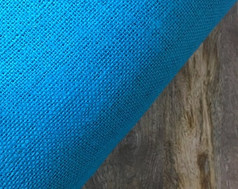 "Turquoise Burlap or Jute Fabric; 40"" wide -by the yard"