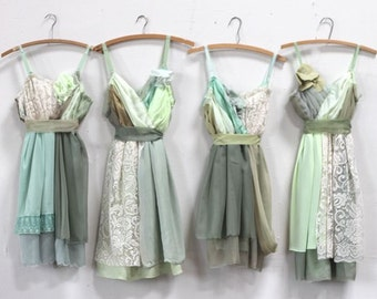 Custom Green Bridesmaids Dresses