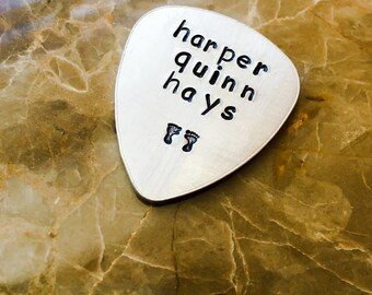 Personalized Guitar Pick - Personalize it, Pluck it, shred, music lover, Baby, Father