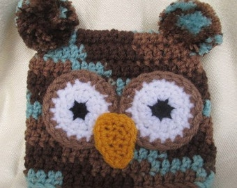 Girls and Boys Owl Hats - Crochet