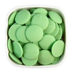 Mint Candy Melts 1 LB - light pastel green melting chocolate wafers for cakepops or chocolate making