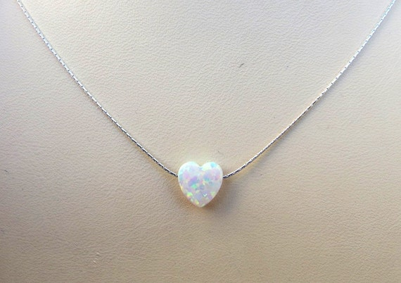 14k gold filled sterling silver 925 chain white opal heart 14k gold filled sterling silver 925 chain white opal heart necklace tiny heart necklace gold heart necklace silver heart necklace aloadofball Gallery