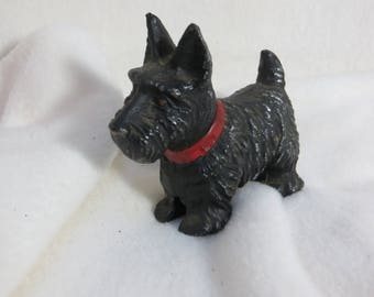 Vintage Strikalite Metal Scottie Dog Lighter Black Scotty