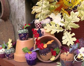 Lil' Acorns: An Acorn Pincushion Pattern