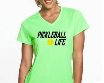 Pickleball LifeTM with Pickleball, Women's Quick Dry Performance Tee