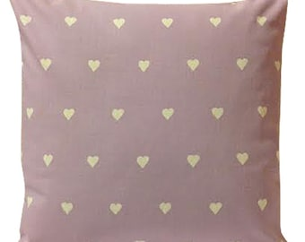 Harlequin Lovehearts Valentine Lilac Cushion Cover